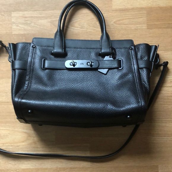 95d97f963 Coach Bags | Swagger Black Pebble Leather 34408 | Poshmark